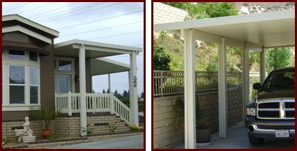 DIY Patio Covers Southern California Traditional Wooden Patio Cover Aluminum  ...