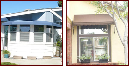 fabric awning recovers fixed retractable patio window riverside