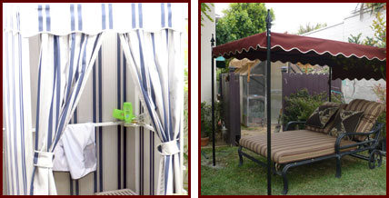 Custom Outdoor Cabanas With Sunbrella Privacy Curtains