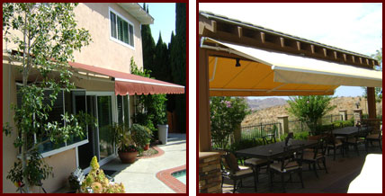 Retractable Fabric Awnings Riverside San Bernardino Orange County