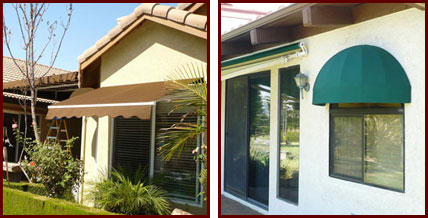 Fabric Awning Recovers Fixed Retractable Patio Window