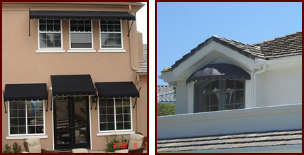 window awnings custom fixed and retractable riverside san
