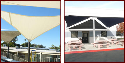Custom Tension Fabric Sail Shades And Sun Shade Sails