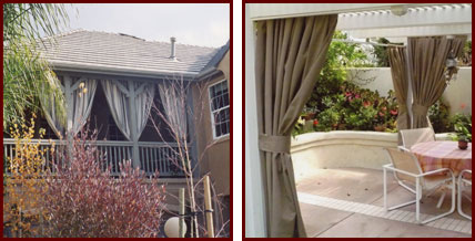 Custom Outdoor Fabric Curtains Riverside San Bernardino Orange County Ca Patio Gazebo Cabana